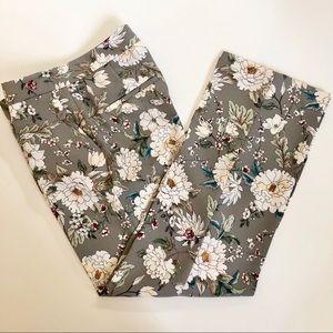 Zara Basic Collection Floral Pants SZ 0
